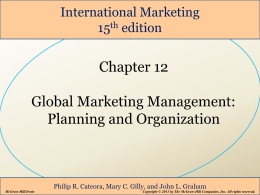 Planning for Global Markets - International Business courses