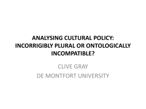 analysing cultural policy