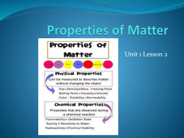 What are chemical properties of matter?