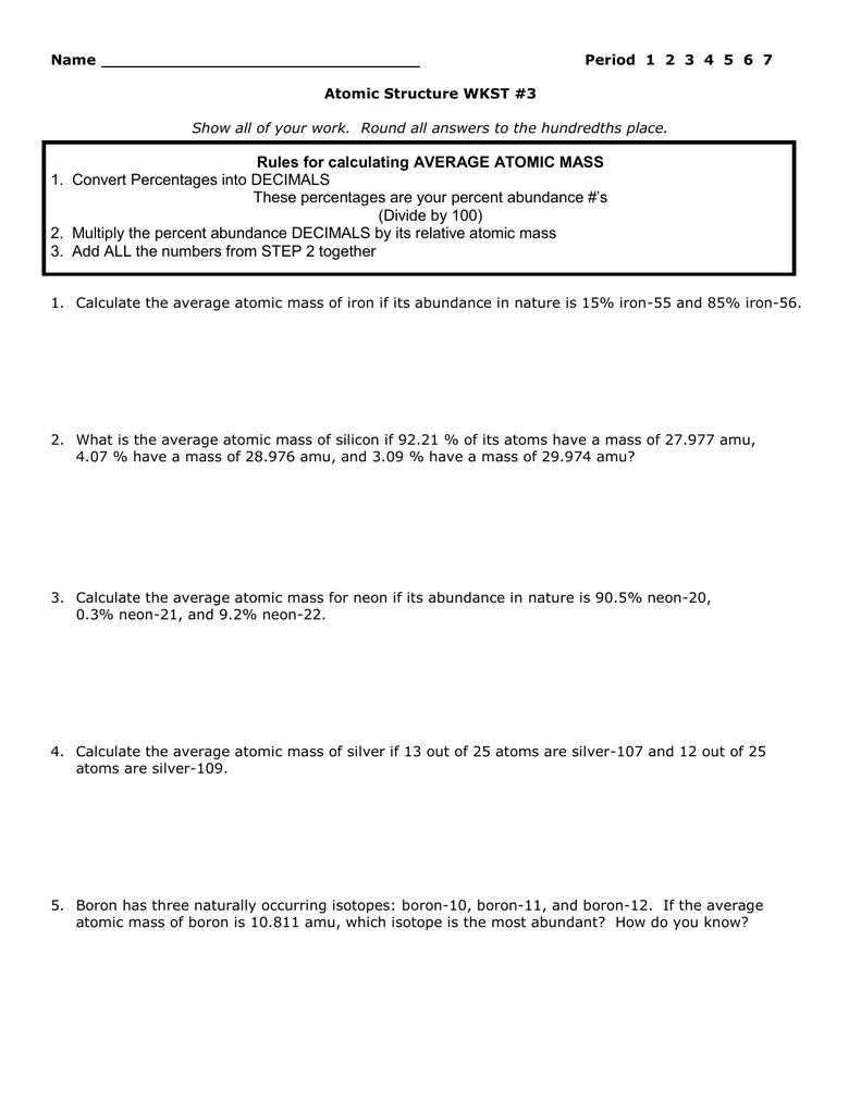 worksheet Counting Subatomic Particles Worksheet atomic structure worksheet