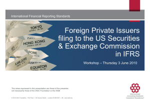 Foreign Private Issuers filing to the US Securities & Exchange
