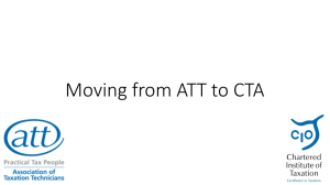 Moving from ATT to CTA (PowerPoint Presentation)