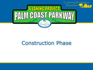 5-Palm Coast Parkway 6-Laning_Construction