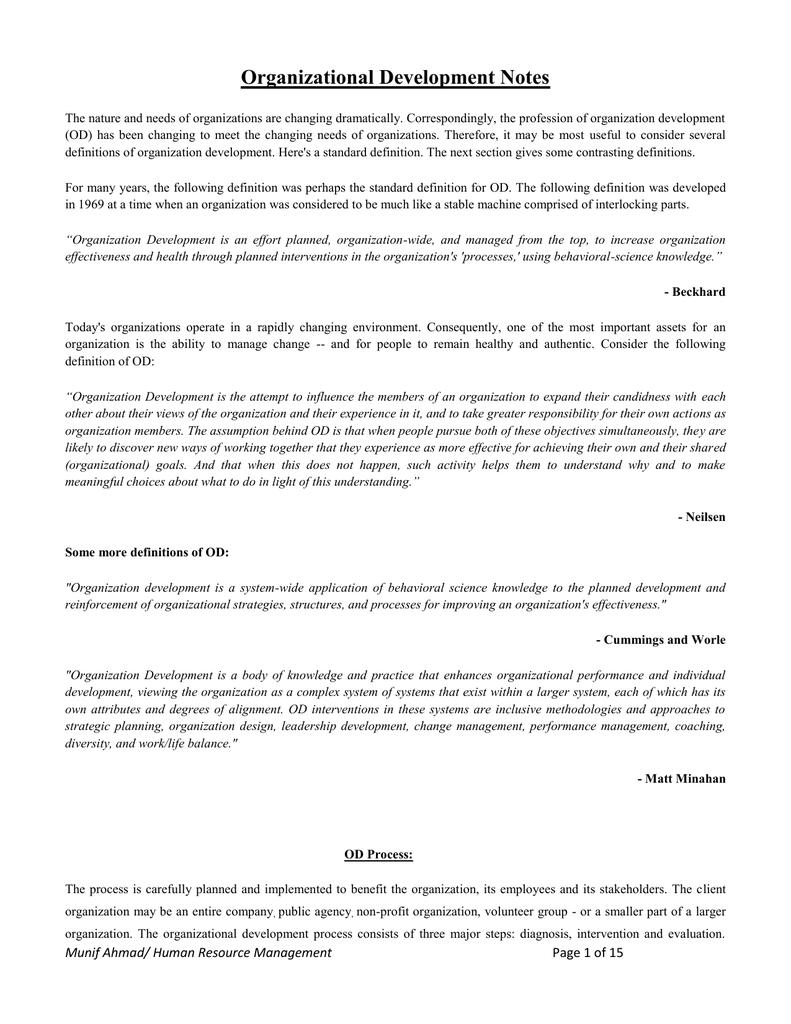 organizational development pdf