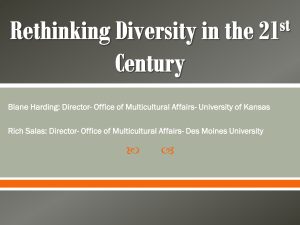Rethinking Diversity in the 21st Century