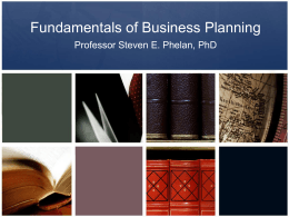 Fundamentals of Business Planning