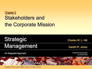 Strategic Management 5e. (Hill & Jones)