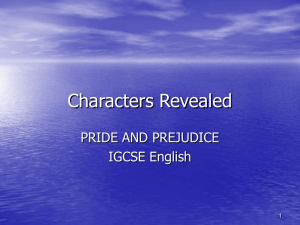 Pride and Prejudice Characters Revealed