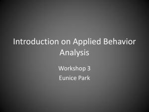 Foundations of Applied Behavior Analysis3