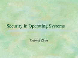 Protection in General-Purpose Operating Systems