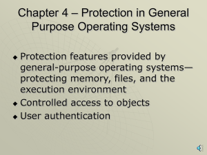 Protected Objects and Methods of Protection with narration