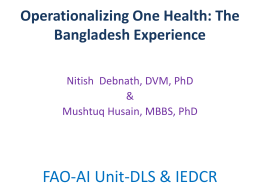 Operationalizing One Health: The Bangladesh Experience