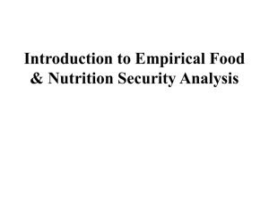 Food Security: Introduction - National Food Policy Capacity
