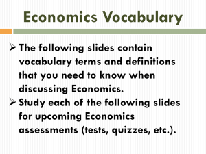 PowerPoint – Economics Vocabulary Presentation
