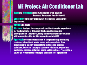 GROUP #10: ME Project - Air Conditioner
