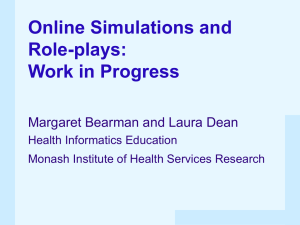 Online Simulations and Role