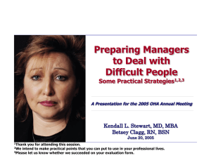 Preparing Managers to Deal with Difficult People