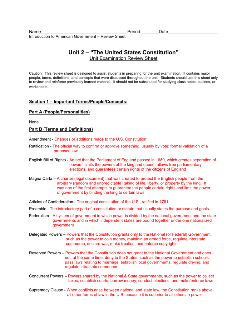 worksheet English Bill Of Rights Worksheet foundations of american government study guide
