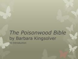 essay topics the poisonwood bible