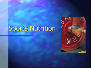Sports Nutrition For Success