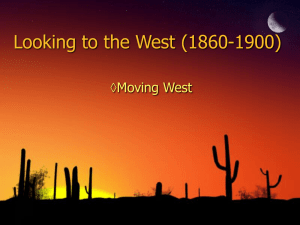 7.1 Moving West PPT