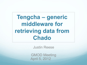 Tengcha + Trellis * generic middleware for retrieving data from Chado