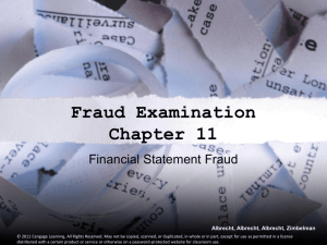 Detecting Financial Statement Fraud