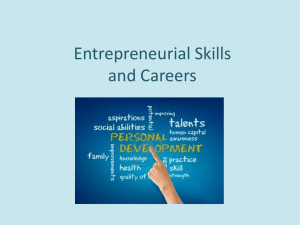 Entrepreneurial Skills and Careers