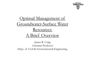 Surface Water - Civil and Environmental Engineering