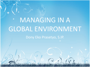 Managing in a global environment