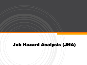 Job Hazard Analysis (Powerpoint)