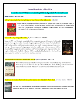Library Newsletter - May 2014