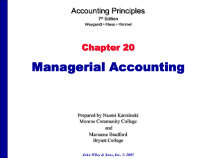 Accounting Principles, 5e - Suffolk County Community College