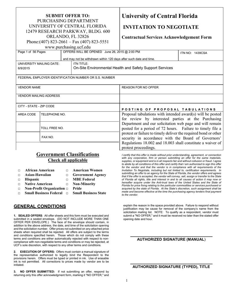ferpa form ucf  appendix ii supplemental offer sheet - UCF Purchasing