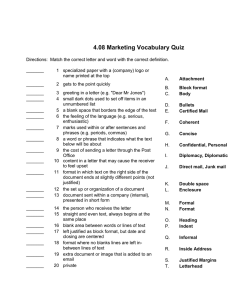 4.08 marketing vocabulary quiz in word revised