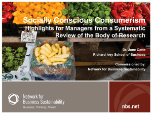 Socially Conscious Consumerism A Systematic Review of the Body