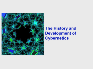 The History and Development of Cybernetics