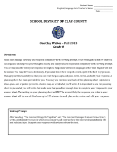 SCHOOL DISTRICT OF CLAY COUNTY OneClay - WJH