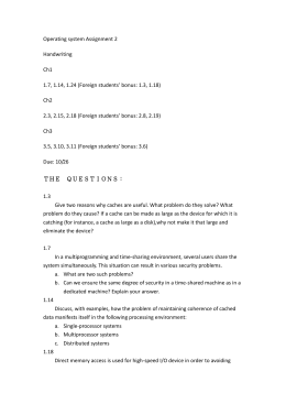 Operating system Assignment 2 Handwriting Ch1 1.7, 1.14, 1.24