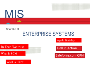 Chapter 11 Enterprise Systems