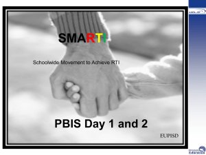 Positive Behavioral Interventions and Supports (PBIS) Day 2