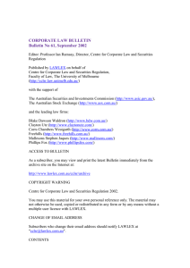 Corporate Law Bulletin 61 - September 2002