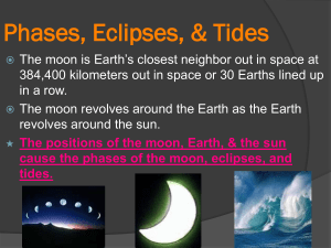 Phases, Eclipses, & Tides