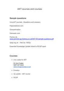 AKT Sources and Courses