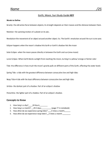 Name _/25 Earth, Moon, Sun Study Guide KEY