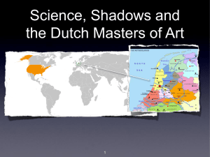 Science, Shadows and the Dutch Masters of Art