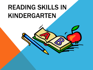Reading Skills in Kindergarten