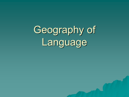 Geography of Language II