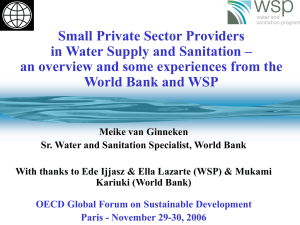 The challenge of the MDGs for water supply & sanitation