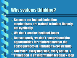Systems Theory, Systems Thinking and Problem Solving